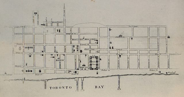 Map of Toronto, 1834, drawn by Alpheus Todd, who was 13 years old when he sketched the city's layout  Toronto Public Library