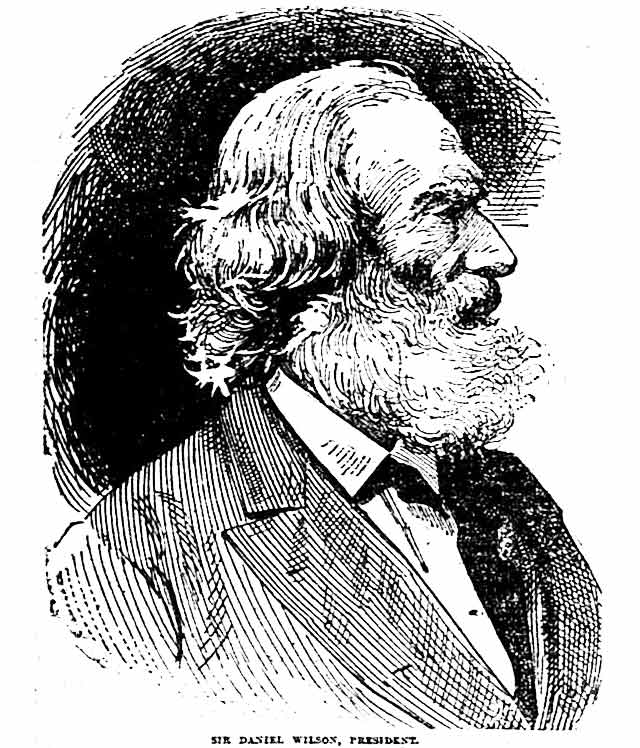 Sketch of Sir Daniel Wilson  The Globe, February 15, 1890