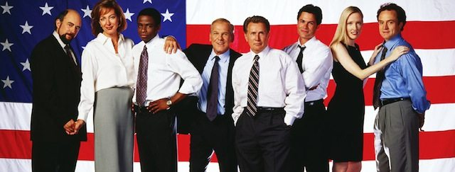 The cast of The West Wing. Image courtesy of Warner Bros. Television.