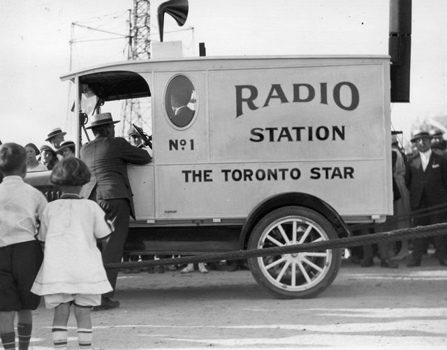 Toronto Star Radio Station truck at the Canadian National Exhibition, ca  1920  From the City of Toronto Archives, Fonds 1244, Item 343B