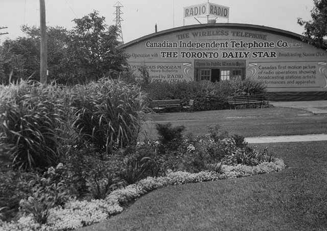 Toronto Star radio building at Canadian National Exhibition, ca  1920  From the City of Toronto Archives, Fonds 1244, Item 3048