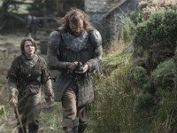 They're Arya and the Hound / yes Arya and the Hound / one's a tweenager, the other's renowned / for killing all the knights / and winning all the fights / they're Arya, they're Arya and the Hound Hound Hound Hound Hound.