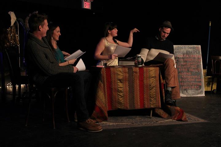 Actors take part in the February edition of Sing For Your Supper. Photo by Chris DePaul.