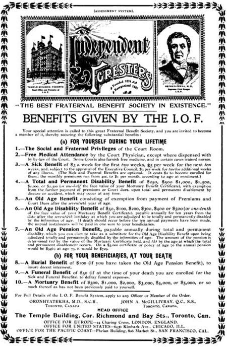 Advertisement, Canadian Magazine, March 1899