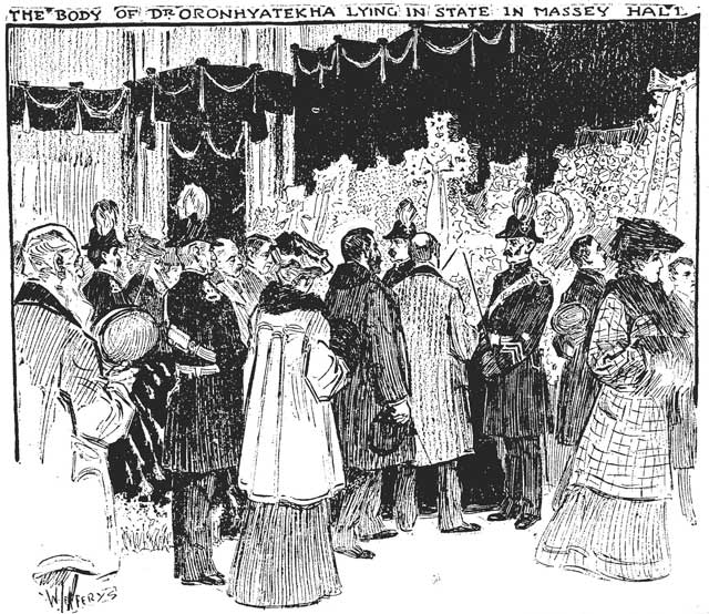Illustration by C W  Jefferys, the Toronto Star, March 7, 1907
