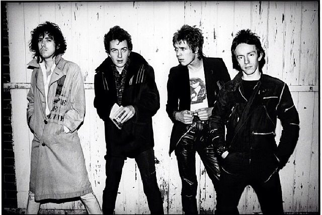 The Clash. Photo by Sheila Rock, courtesy of Analogue Gallery.