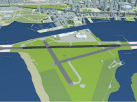 "Rendering from ""Request to Amend the Tripartite Agreement for  Billy Bishop Toronto City Airport."""