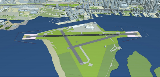 "Rendering from ""Request to Amend the Tripartite Agreement for Billy Bishop Toronto City Airport """