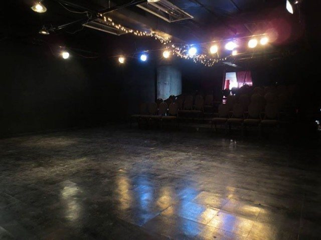 The restored Storefront Theatre, ready for a show. (Or, in this case, party.) Photo by Claire Armstrong.