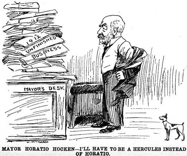 Cartoon, the News, October 23, 1912