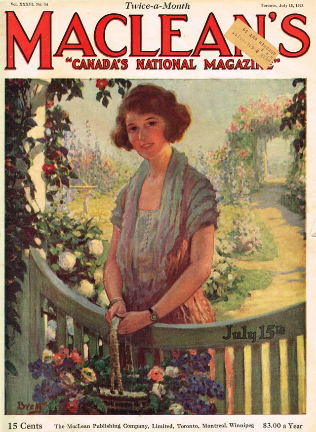 Cover, Maclean's, July 15, 1923