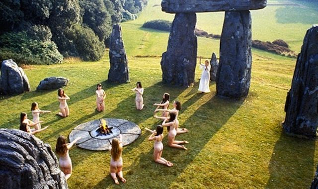 A scene from 1973's Wicker Man. Image courtesy of British Lion Film Corporation.