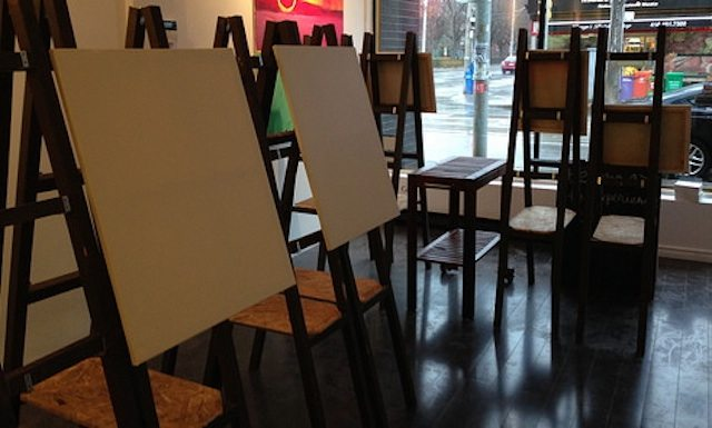 Blank canvases await your creativity. Image courtesy of Paintlounge Toronto.