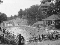 High Park Mineral Baths, July 6, 1917.  32 Gothic Ave. visible at rear.  City of Toronto Archives, Fonds 200, Series 372, Subseries 32, Item 489.
