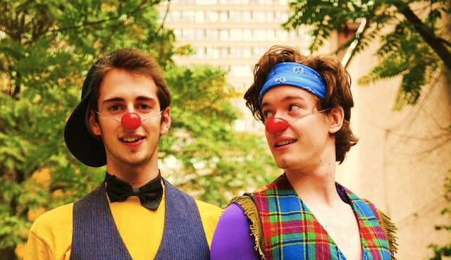 Jordan Campbell and Daniel Henkel star in Adventure Time as part of the Toronto Festival of Clowns. Image courtesy of the Toronto Festival of Clowns.