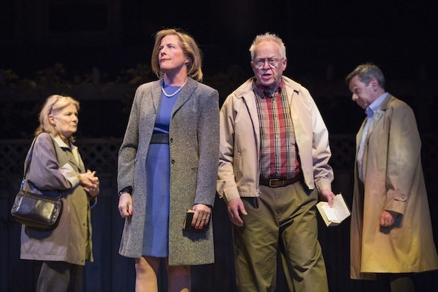 Nancy Beatty, Julie Stewart, Eric Peterson and Michael Healey in George F. Walker's Dead Metaphor. Photo by Cylla von Tiedemann.