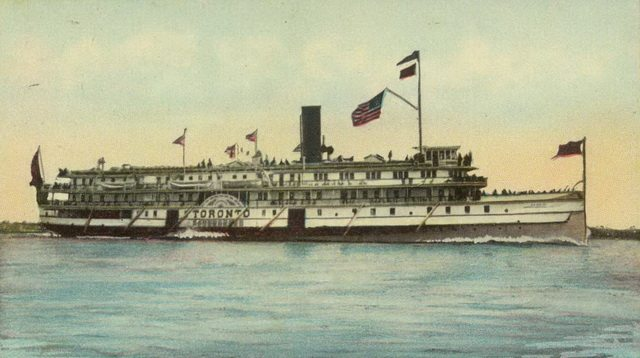 Postcard of the steamer Toronto at the Thousand Islands, N  Y , ca  1910  From Walter Lewis' Maritime History of the Great Lakes