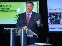 Finance Minister Charles Sousa, introducing the 2014 budget. Photo by Christopher Drost/Torontoist.