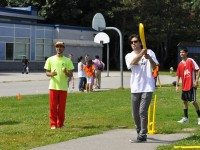 Teaching cricket to youth in Flemingdon Park. Image courtesy of Valley Park Go Green.