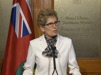 Kathleen Wynne announcing the June 12 election.