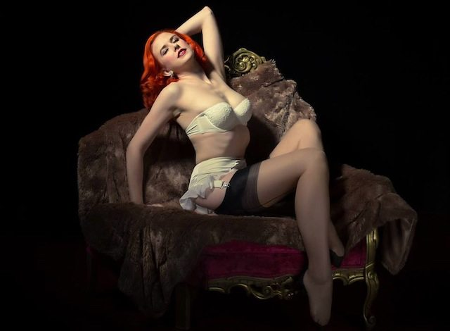 Canadian Burlesque Ambassador, Bettina May will perform at the Canadian Pin Up Burlesque Show (naturally). Photo by Charles Farrah.