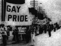 Gay Pride march, 1972. Photo by Jearld Moldenhauer. The Body Politic, Autumn 1972.