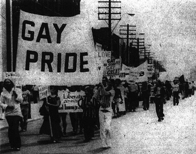 Gay Pride march, 1972  Photo by Jearld Moldenhauer  The Body Politic, Autumn 1972