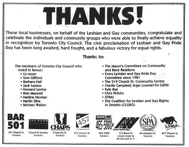 Advertisement, Xtra, November 23, 1990