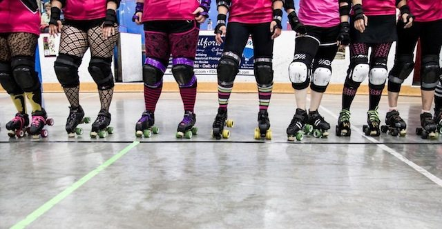 Watch the Derby Debutantes take on the Fergus Feims at Bruisapalooza. Image courtesy of the Derby Debutantes.