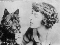 Mazo De La Roche and her dog Bunty, no date. From the George Grantham Bain Collection at the Library of Congress (LC-B2- 4239-17).