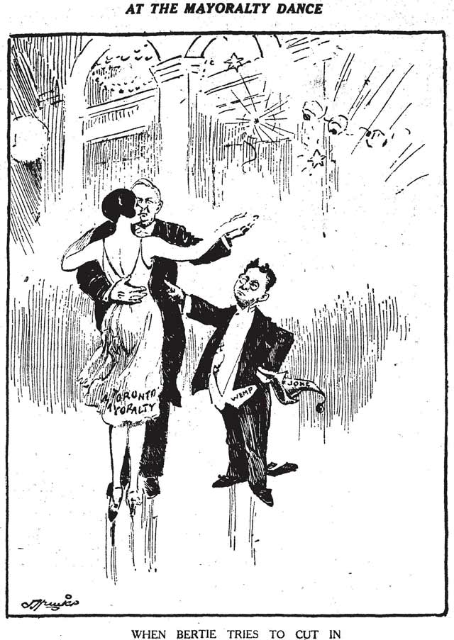 Anti Wemp cartoon, the Toronto Star, December 26, 1929
