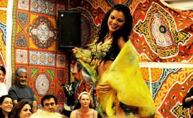 Get up close and personal with bellydancers and the Arabesque Orchestra at the last-ever Al Khaima. Photo by SH Photography, courtesy of Arabesque Academy.