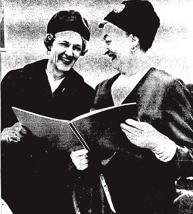 Beth Nealson and True Davidson  The Toronto Star, October 11, 1966