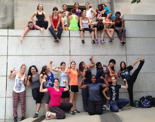 The Women's Parkour Jam will have you climbing the walls—in a good way. Image courtesy of the North American Women's Parkour Jam.
