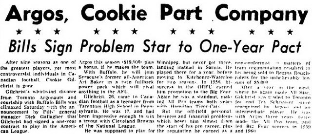 Globe and Mail (August 6, 1962)