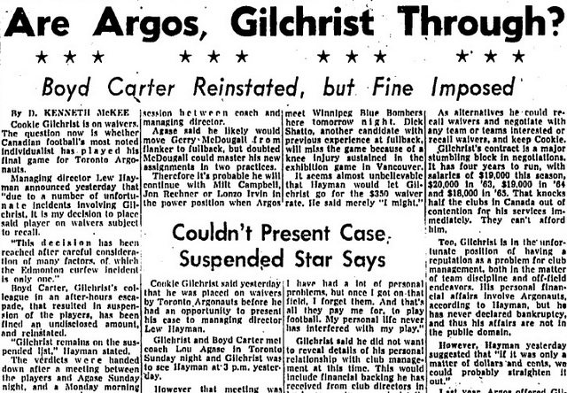 Globe and Mail (July 31, 1962)