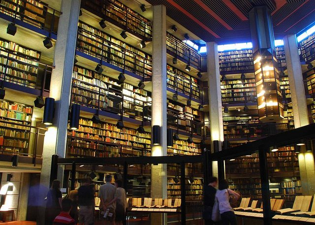 Inside the Thomas Fisher Rare Book Library at the University of Toronto  Photo by gardinergirl from the Torontoist Flickr pool