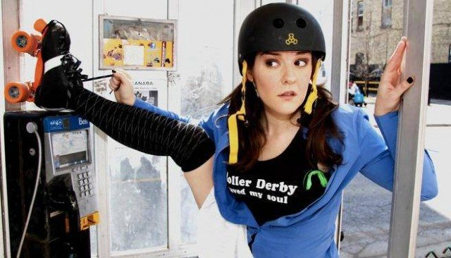 Nancy Kenny laces up for Roller Derby Saved My Soul  Photo by Richard Gilmore