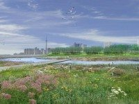 A rendering of the mouth of the Don River, post-revitalization. Designed by Michael Van Valkenburgh Associates, Inc. Courtesy of Waterfront Toronto.