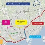 A map of Toronto's existing and developing urban greenways. Image courtesy of Park People and the Centre for City Ecology