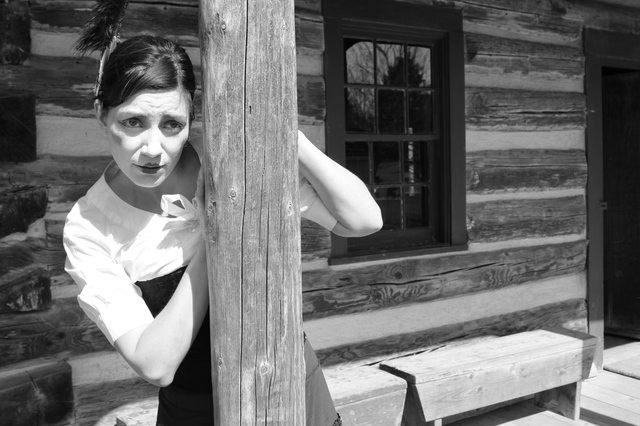 Dana Frankin is a Dawson City frontierswoman in Keystone Theatre's GOLD FEVER  Photo by Christian Potenza