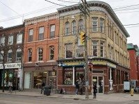 Queen and Portland, part of the Queen West Heritage Conservation District. Photo by William Kimber from the Torontoist Flickr pool.