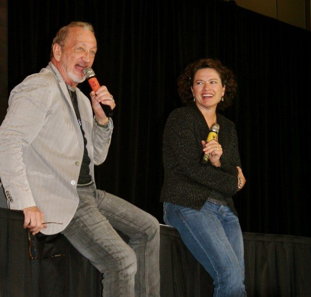 A nightmare on Front Street—Robert Englund and Heather Langenkamp (A Nightmare on Elm Street's Freddy Krueger and Nancy Thompson)  Photo by Jessica Buck