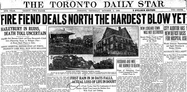 Front page of The Star (October 5, 1922)