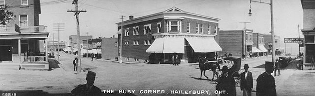 The busy corner in Haileybury, 1910  Postcard from the Toronto Public Library's Digital Collection