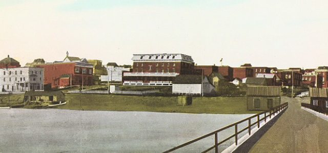 Panorama postcard of Haileybury, 1910  From the Toronto Public Library's Digital Collection