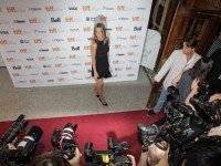 Jennifer Aniston yesterday at the premiere of Cake.