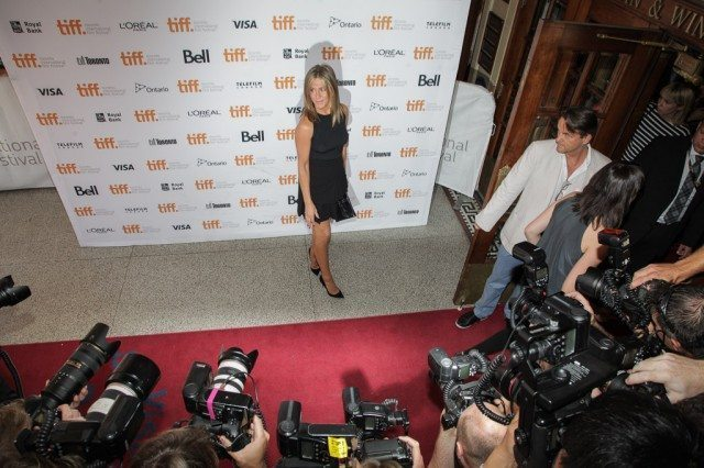 Jennifer Aniston yesterday at the premiere of Cake