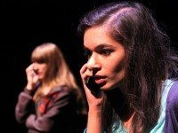 Jessica Munk, left, and Erum Khan star in Suburban Beast's production of Concord Floral. Photo by Erin Brubacher.