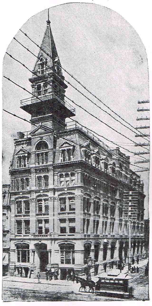 The Mail Building, circa 1891  Toronto Old and New by G  Mercer Adam (Toronto: Mail Printing Company, 1891)